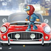Игра Игра Сабвей Серф Джейк разбивает машины