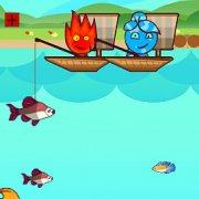 Игра Игра Огонь и Вода на рыбалке