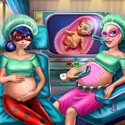 Игра Игра Леди Баг и Супер Барби беременные