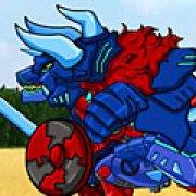 Игра Игра Роботы трансформеры: тиранозавр и трицератопс