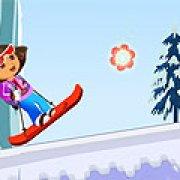 Игра Игра Прыжки лыжницы Доры
