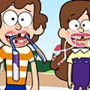 Игра Игра Гравити Фолс: Мейбл и Диппер лечат зубы