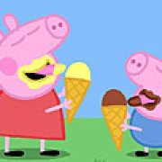 Игра Игра Свинка Пеппа ест мороженое