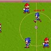 Игра Игра Марио против Соника: футбол
