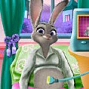 Игра Игра Беременная Джуди Хопс рожает малыша