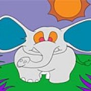 Игра Игра Слон: раскраска
