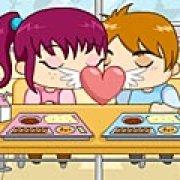 Игра Игра Поцелуй в кафетерии