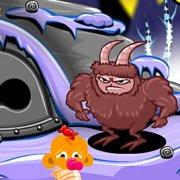 Игра Игра Счастливая обезьянка: Уровень 404 Огненное Лицо