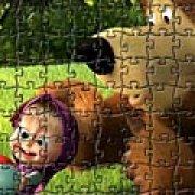 Игра Игра Пазлы: Маша и медведь