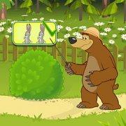 Игра Игра Маша и Медведь сколько зверей за кустом