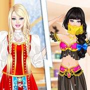 Игра Игра Барби: российская, японская, индийская и арабская принцесса