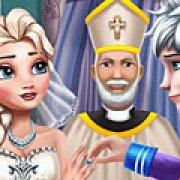 Игра Игра Холодное сердце свадебная церемония Эльзы и Джека
