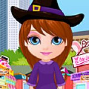 Игра Игра Малышка Барби Хэллоуин шопинг