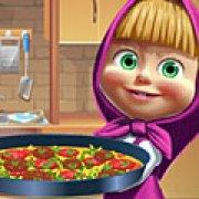 Игра Игра Маша готовит пиццу