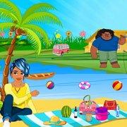 Игра Игра Принцесса Моана: летний день