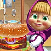 Игра Игра Маша готовит большой бургер