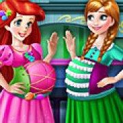 Игра Игра Ариэль и Анна беременные