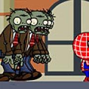 Игра Игра Спайдермен бежит от зомби