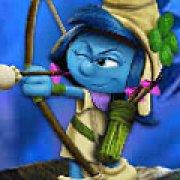 Игра Игра Смурфики затерянная деревня: стрельба из лука