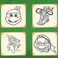 Игра Игра Черепашки ниндзя: Книга-раскраска