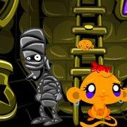 Игра Игра Счастливая обезьянка: Уровень 494 Золотые Змеи