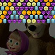 Игра Игра Маша и Медведь: конфетный стрелок пузырями