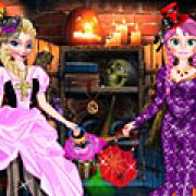 Игра Игра Холодное сердце: Эльза и Анна одеваются на Хэллоуин