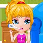 Игра Игра Малышка Барби лечить горло
