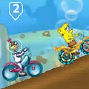 Игра Игра Губка Боб: гонки на велосипедах