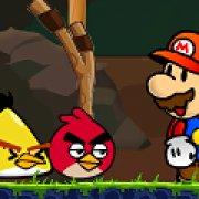 Игра Игра Марио против Angry birds