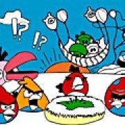 Игра Игра Злые птицы: онлайн раскраска