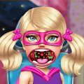 Игра Игра Малышка Супер Барби: Лечить Горло