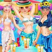 Игра Игра Принцессы Диснея: Мода у бассейна