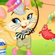 Игра Игра Рыбалка непослушного котенка