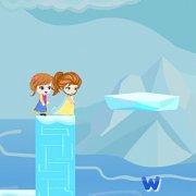 Игра Игра Бродилки для девочек: Эльза и Анна спасают Олафа