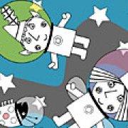 Игра Игра Раскраски маленькое королевство: Бен и Холли космонавты