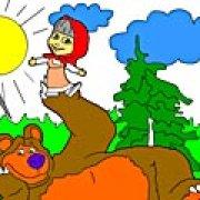 Игра Игра Маша и Медведь на лужайке