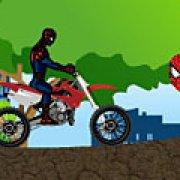Игра Игра Гонка Спайдермена на мотоцикле