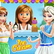 Игра Игра Райли готовит мороженое для принцесс Диснея