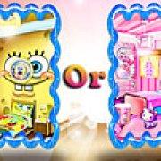 Игра Игра Переделка комнаты: Губка Боб или Хелло Китти