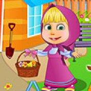 Игра Игра Маша убирает в саду