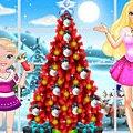 Игра Игра Барби и малышка Барби Новый год