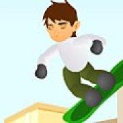 Игра Игра Бен 10: прыжки на сноуборде