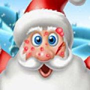 Игра Игра Лечить лицо Деда Мороза