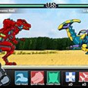 Игра Игра Драки трансформеров роботов динозавров
