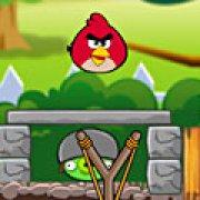 Игра Игра Злые птицы защита зеленых свиней