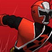 Игра Игра Могучие рейнджеры бег красного Рейнджера