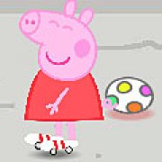 Игра Игра Свинка Пеппа на роликах