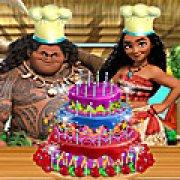 Игра Игра Моана готовит торт