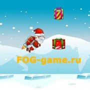 Игра Игра Летающий Дед Мороз собирает подарки
